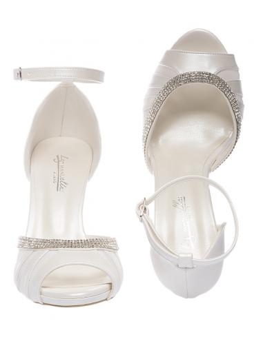 Scarpe Da Sposa Bianche.Sandalo Da Sposa Marlene Les Manuelles