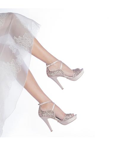 Scarpe Gioiello Sposa.Sandalo Da Sposa Magda Les Manuelles