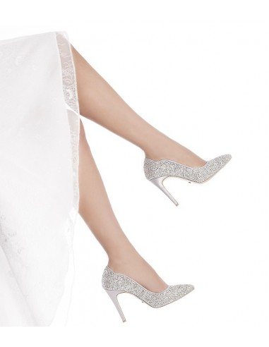 Scarpe Da Sposa Color Argento.Decollete Glitter Argento Maelleg Les Manuelles